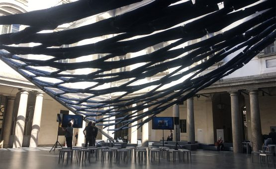Installazione a matter of perception costruita per il fuorisalone 2017 al palazzo litta