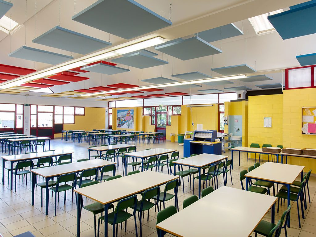 Canteen of the Vigodarzere primary school in Padua