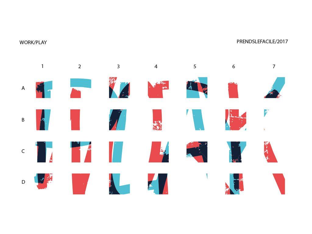 Progetto schematico dela disposizione dei pannelli Phonolook per coworking a Pigalle