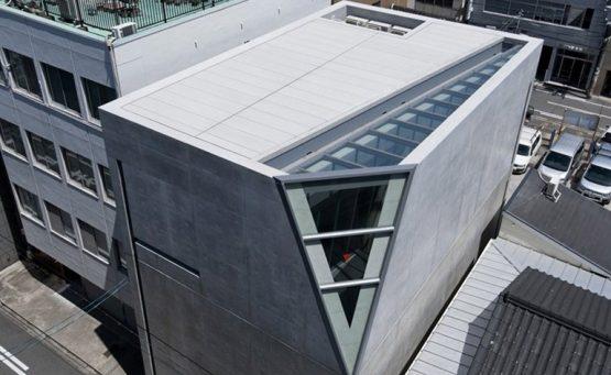 Vista dall'alto della Kamigata Rakugo Associaton Building