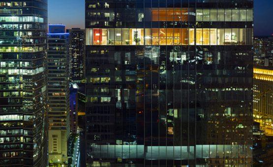 Vista esterna degli uffici photo by Nic Lehoux