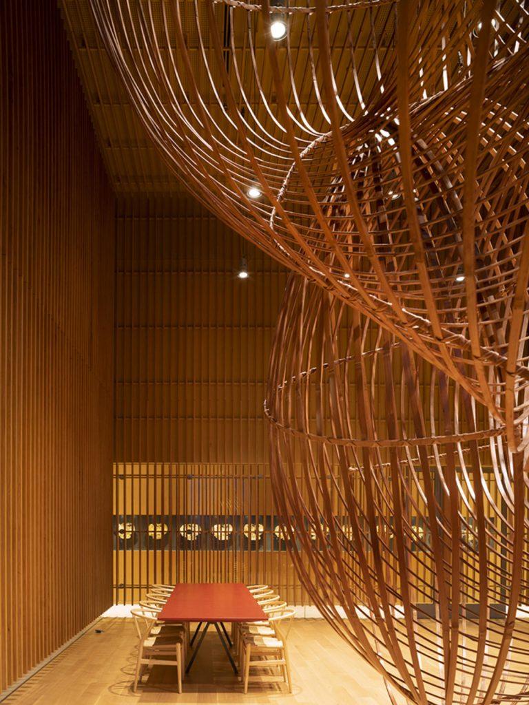 Scultura in bambu di Ueno Masao
