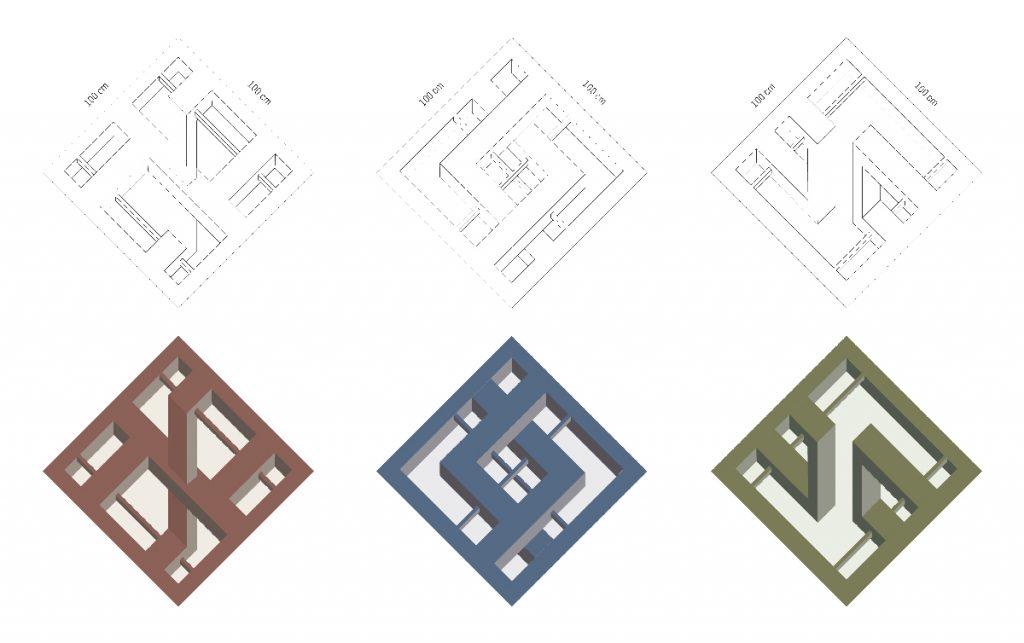Pattern alterati della classica tridimensionalità