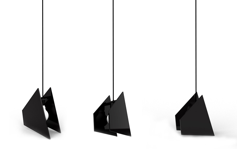 Computer rendering of the lamp seen in various angles