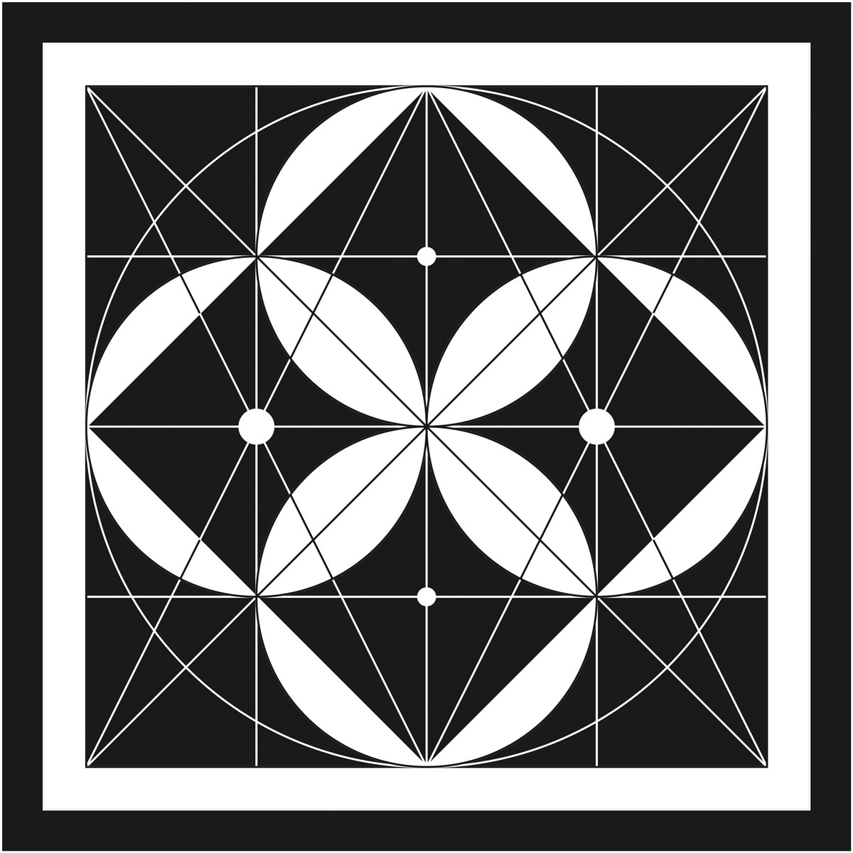Black and white symbol of the Hermetic Diagram