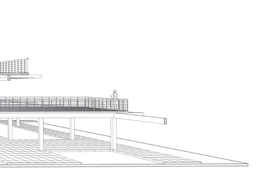 Technical drawing of an architectural project