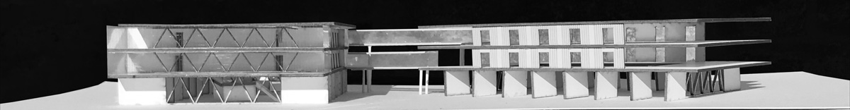 Model of an architectural school project