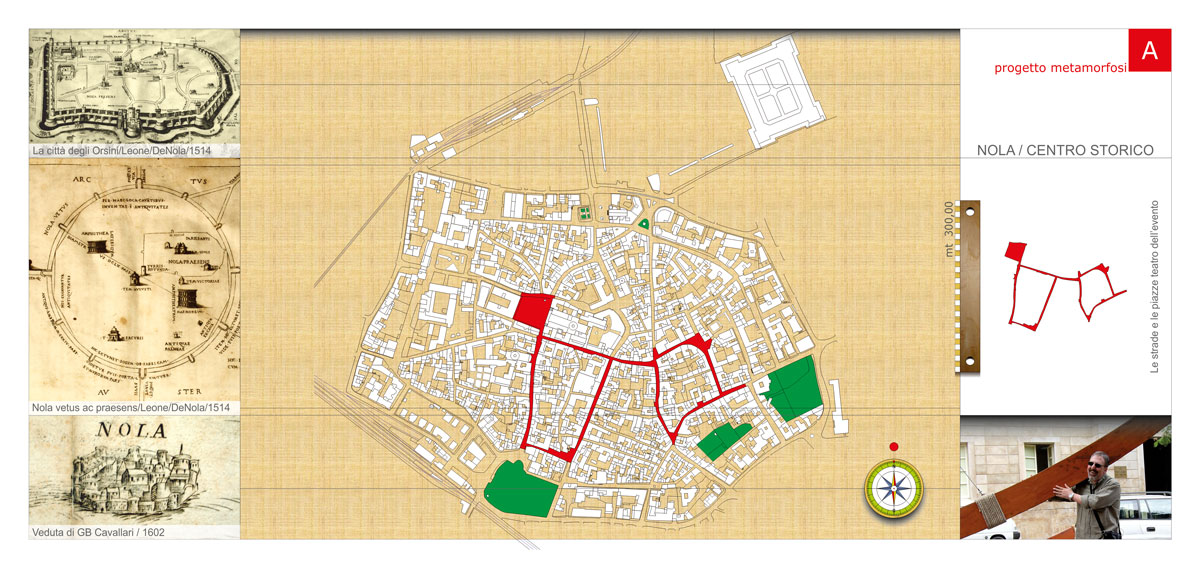 Planimetric map of the historic center
