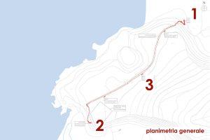 Mappa della planimetria generale della spiaggia