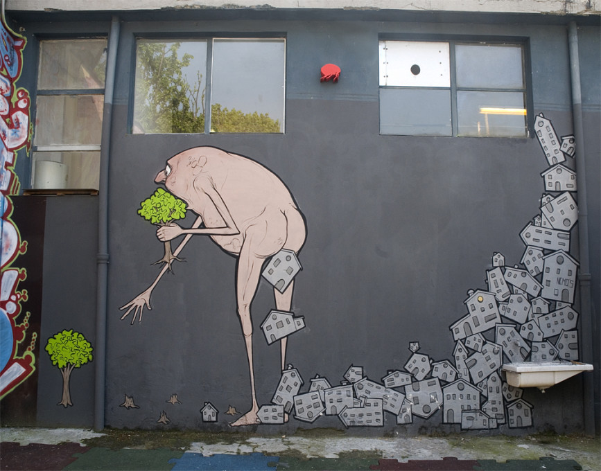 Street art del Cagacemento a Milano