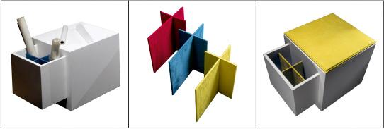 Illustrazione di possibile utilizzo degli scompartimenti di Domino