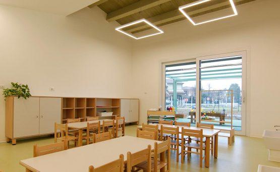 Sala interna ricreativa per i bambini