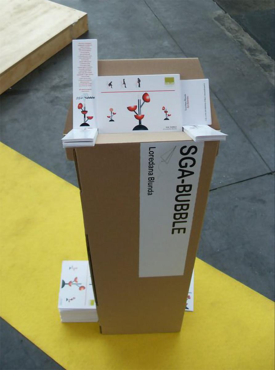 scatolone contenente istruzioni SGA-Bubble