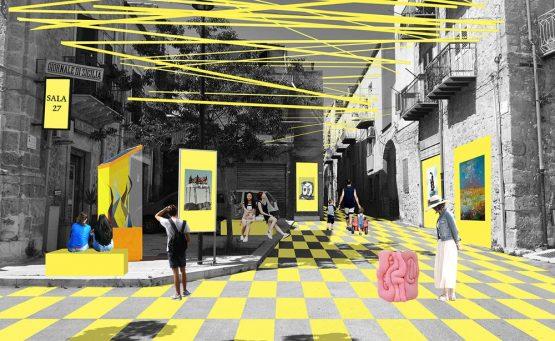 Via urbana adibita a museo