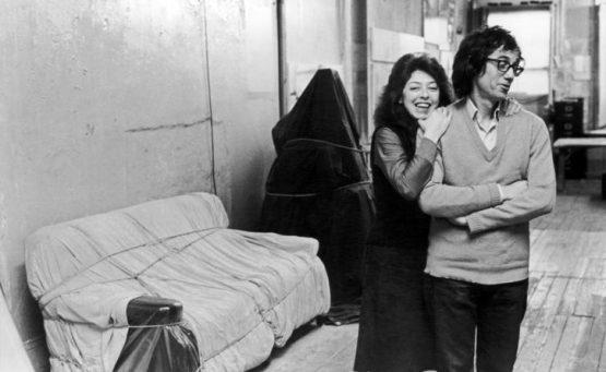 Christo e Jeanne Claude nello studio di Christos