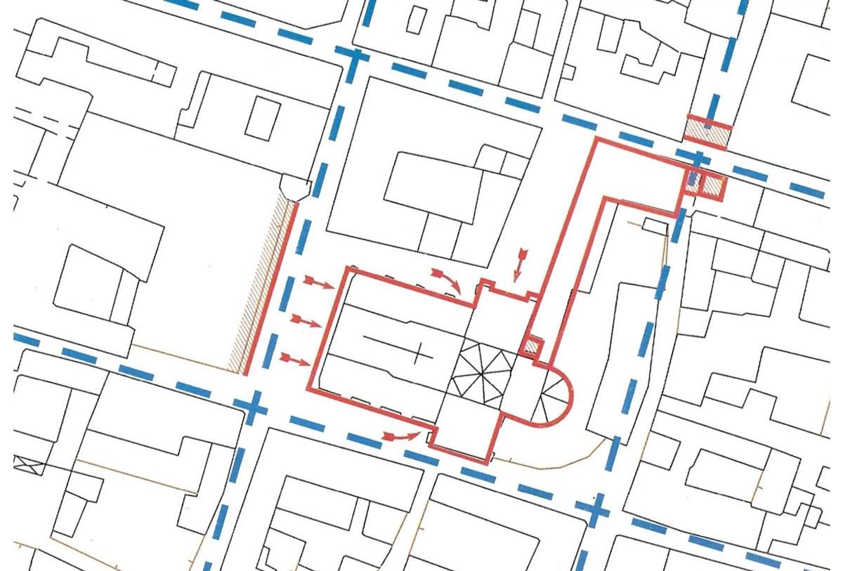 Planimetria della zona di San Michele