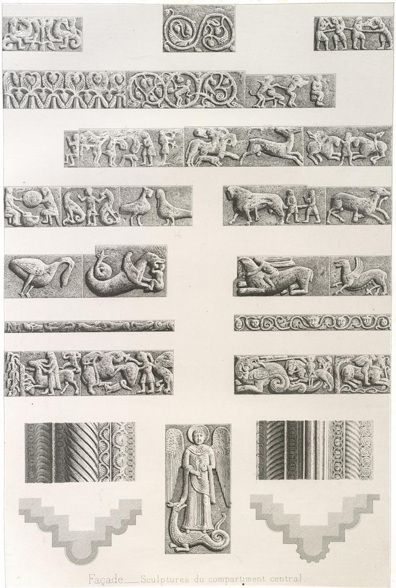Rilievi della sezione centrale di F. de Dartein