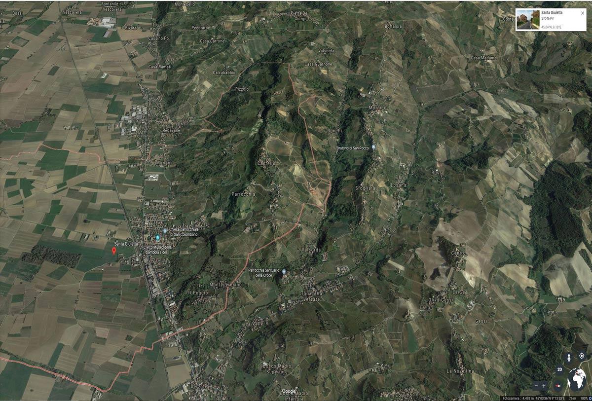 Santa giulietta vista da google Earth