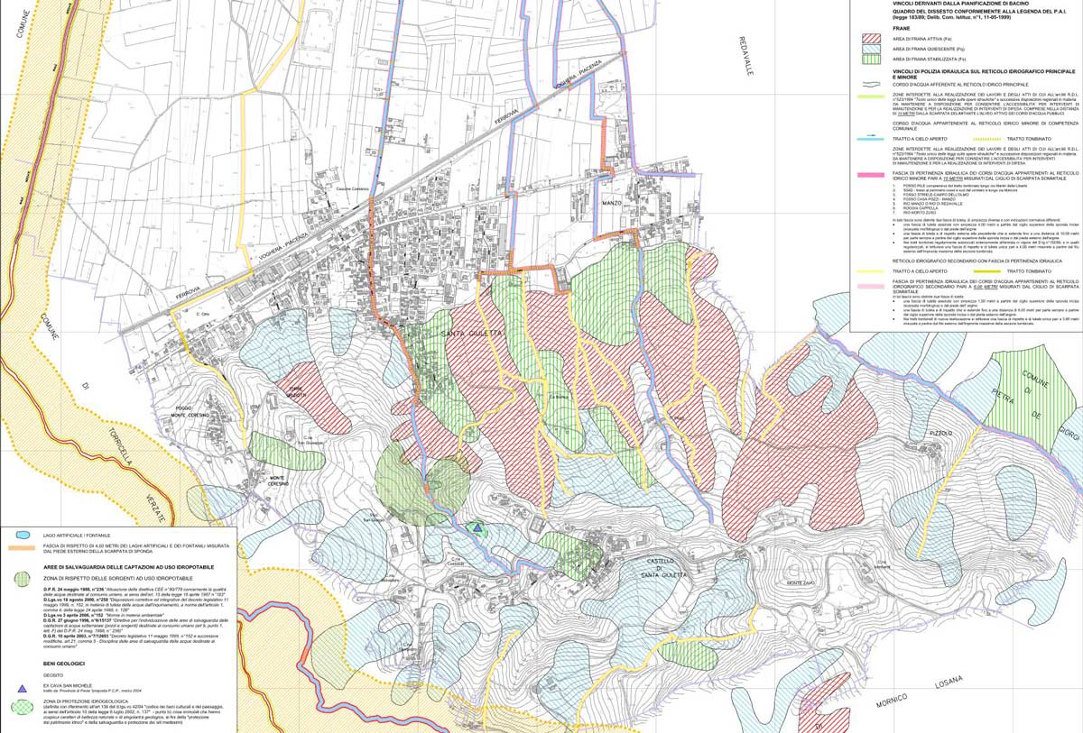 cartina dello studio geologico