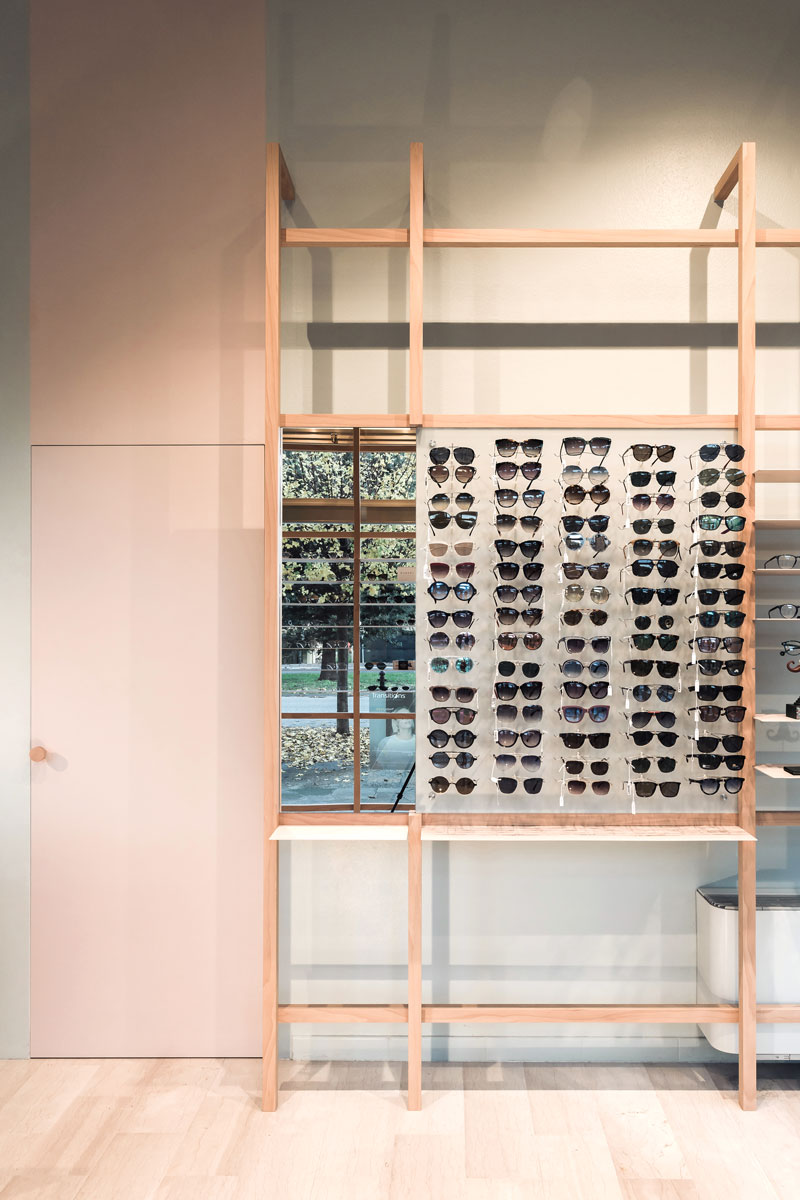 Shelf of glasses