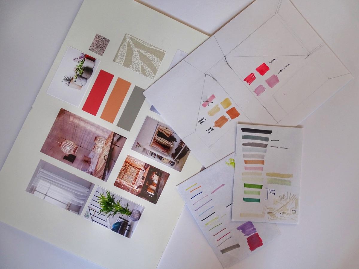 Moodboard di un progetto di interior design